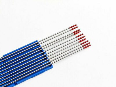 Red 2% Thoriated Tig Welding Tungsten Electrode 1.0mm To 3.2mm Steel & Stainless • 13.45£