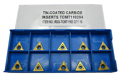 Rdgtools Tcmt 11 Carbide Tips / Inserts / Indexable Lathe Turning Tools  • 35£