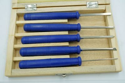 Soba Set Of Five Hss Miniature Wood Working Chisels In Wooden Box • 28.95£