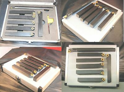 Set Of 7 SCT Indexable Lathe Turning Tools 16 Mm Shank From Chronos • 99.95£
