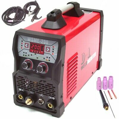 13975 WELDER TIG AC/DC 200 PULSE HF INVERTER ARC STICK AC DC Welding Machine • 379.95£
