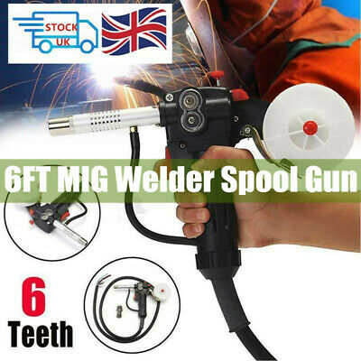 6FT MIG Welder Spool Gun Push Pull Feeder Aluminum Welding Torch + 2m Wire Cable • 29.95£