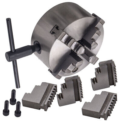 K12-125 4 Jaw Lathe Chuck Self-Centering 125mm 3x Mounting Bolts New Sales • 50.99£
