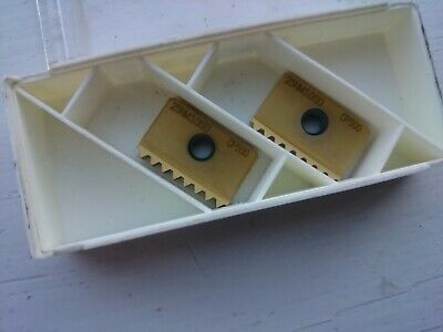 2 Seco Thread Milling Inserts 25NM3.0ISO CP500 ( 25NM 3.0ISO 3mm 396 Mill ) • 30£