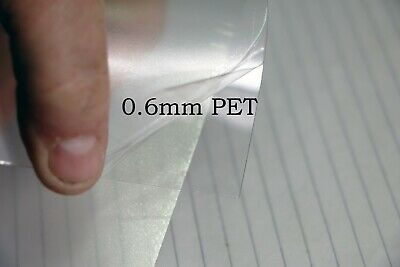 0.6mm A4+ Crystal Clear PET Plastic Sheet Art Craft Modelling Dolls House PPE • 25.24£