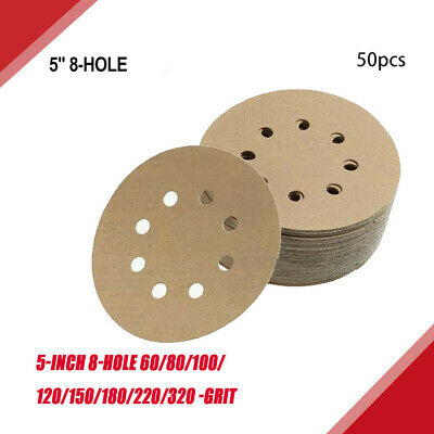 5-Inch 8-Hole Hook And Loop Sanding Discs, 60/80/100/120/150/180/220 Assorted.. • 16.49£