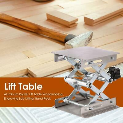Aluminum Router Lift Table Woodworking Engraving Working Lab Lifting Stand Rack • 15.86£