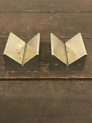 Pair Of Brown & Sharpe Finished Vee Blocks For Use On Magnetic Chucks 745-756-1 • 99.99£