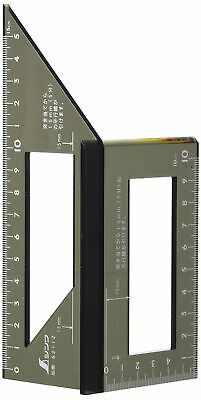 SHINWA Square Layout Miter Rule 3D 45 + 90 Degrees Metric Polycarbonate 62112 • 17.42£