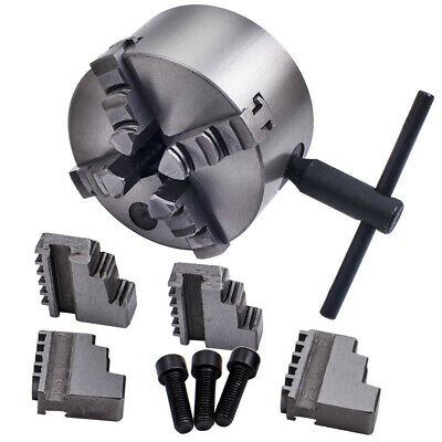 K12-100 100mm 4 Jaw Self Centering Chuck For Lathe Milling Screws Wrench Jaws • 51.99£