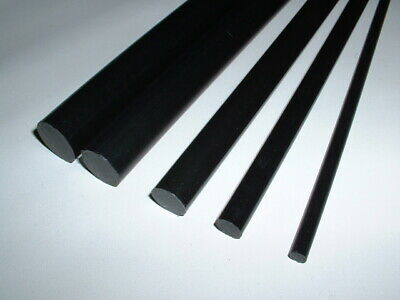1 Ft Long (305mm) Black Acetal Round Engineering Plastic Rod Bar 6mm To 20mm Dia • 6.79£