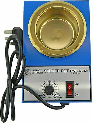 Prince August Solder Melting Pot For Low Melting Point Metal For Hobby Casting. • 32.21£