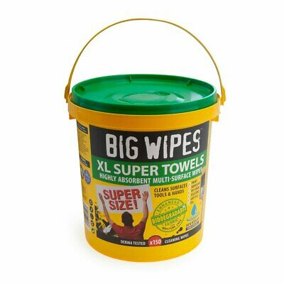 Big Wipes 4X4 XL Highly Absorbent Multi Surface Wipes (Tub Of 150 Wipes) • 26£