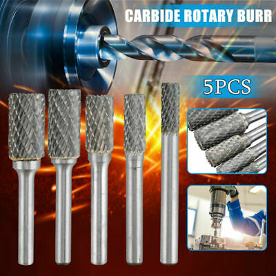 6/8/10/12/14mm Drill Bits Rotary Head Burrs 1/4In Shank Die Grinder New • 19.19£