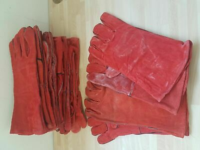 Welding Gauntlets Gloves Stoves Fire Safety Bundle Of 5 Pairs • 10£
