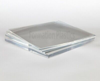 Clear Acrylic Plastic Perspex Sheet Cut To Size Custom Panels Free Polished Edge • 59.60£
