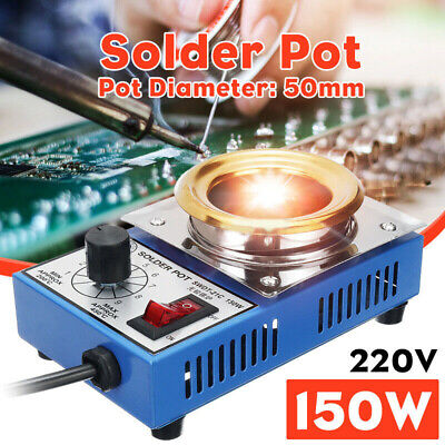 220V Solder Pot Tin Melting Fast Thermal Effect Titanium Plate Replacement Parts • 18.80£