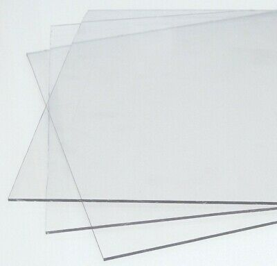 Clear Polycarbonate Sheet Unbreakable Screens / Panels Various Sizes Available • 22£