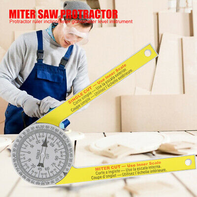Miter Saw Protractor Scale Angle Finder Ruler Goniometer Degree Measuring Tools • 5.98£