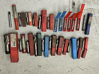 Engineering Tools End Mill , Slot Drills Milling Cutters Job Lot Various Types • 45£