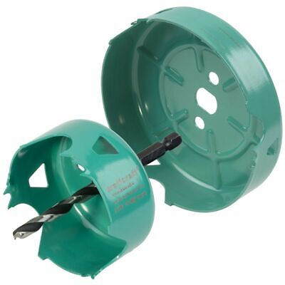 Wolfcraft 2 Piece Hole Saw Set Carbon Steel Turquoise Drill Accessory 5974000 • 31.27£