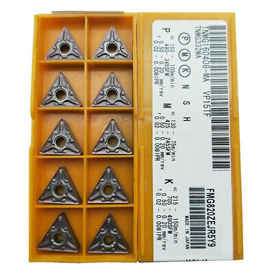 20PCS TNMG160408-MA TNMG 332 Lathe Turning Carbide Inserts Grade US735/VP15TF • 25.30£