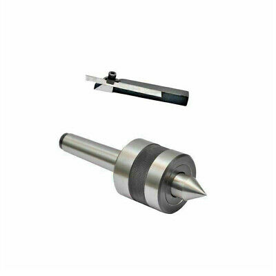 Revolving Live Center MT1 With Mini Parting Lathe Tool Cut Off Holder 8 Mm Shank • 27.99£