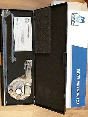 Bevel Protractor Moore And Wright New In Box • 45£