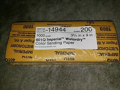 3M Wetordry Paper Sheet 401Q, 3 2/3 In X 9 In 1000 A Weight, 200 Sheets • 18.73£