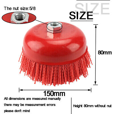 150mm Cup Nylon Abrasive Brush Wheel Pile Polymer-abrasive Angle Grinder Tool • 18.34£