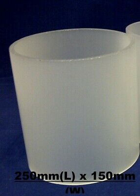 150mm Frosted Acrylic / Perspex Round Plastic Tube Length 250, Dia 150, Wall 3mm • 14.99£