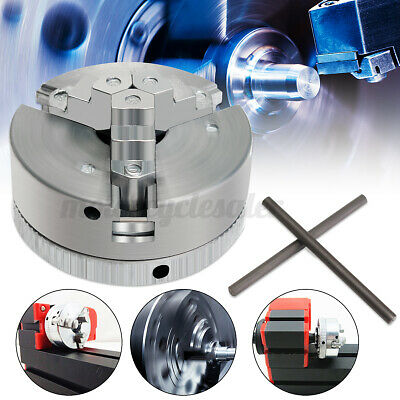 UK Metal 3 Jaw Self-Centering Lathe Chuck M12x1 45mm For Mini 6 In 1 Lathe+Two  • 23.25£