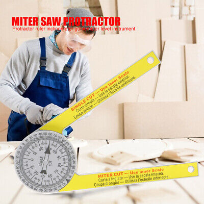 Miter Saw Protractor ABS Digital Protractor Ruler Inclinometer Goniometer Mitre • 6.89£