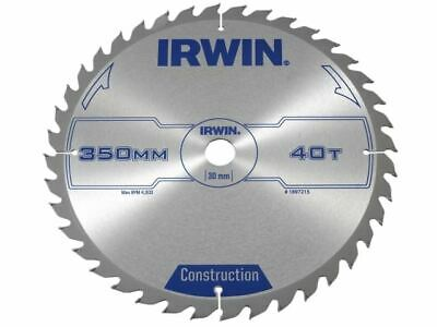 IRWIN General Purpose Table & Mitre Saw Blade 350 X 30mm X 40T ATB • 74.74£