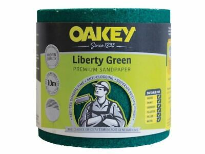 Oakey Liberty Green Sanding Roll 115mm X 10m Coarse 60G • 36.90£