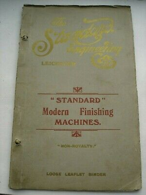 Antique 1920s Standard Engineering MODERN FINISHING Machine Catalogue Leicester • 29.95£