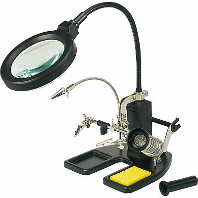 Toolcraft 826054 Helping Hand LED Magnifier Lamp • 104£