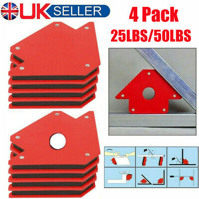 25lb 50lb Welding Magnet Right Angle Square Holder Soldering Durable Clamp Holds • 15.68£