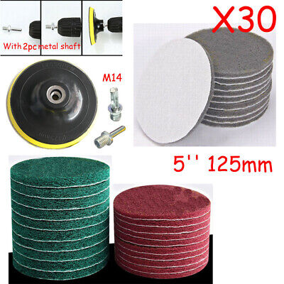 5  Scouring Pads Cleaning Backing Pad Drill Power Brush Scrubber Cleaner Kit • 12.09£