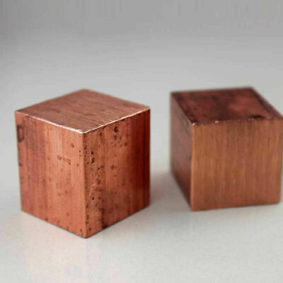 Red Copper Solid Square Cube Crystal Mineral Metal Element Collection 2-4CM  • 7.93£