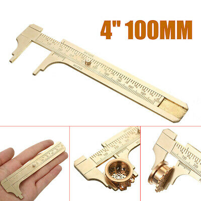 Brass Caliper Mini Sliding Ruler Gauge Inch Millimeters Tool Pocket Supply • 4.76£