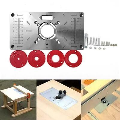 Router Table Insert Plate Woodworking Benches Aluminium Wood Router Trimmer Red • 12.99£