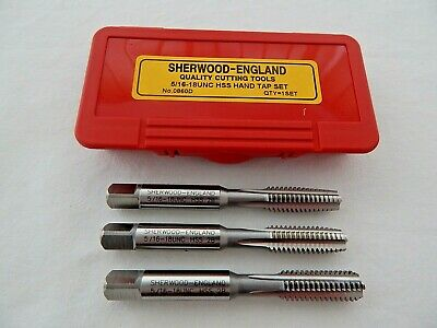 5/16  X 18 UNC H.S.S. HAND TAP SET BY SHERWOOD • 6.99£