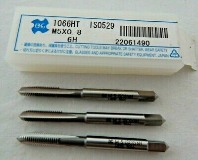 M5 X 0.8mm SET OF 3 HAND TAPS, TAPER, SECOND AND BOTTOMING • 5.99£