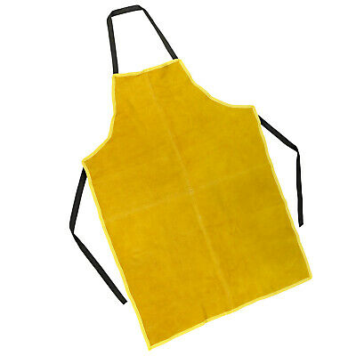 Welding Apron Heat Insulation Cow Leather Cowhide Welder Protection Carpenter • 18.77£