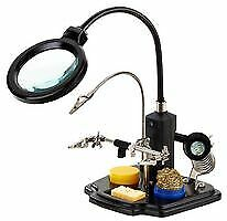 LED Magnifying Helping Hand Lamp With Third Hand Soldering Stand Light-Up  • 29.99£