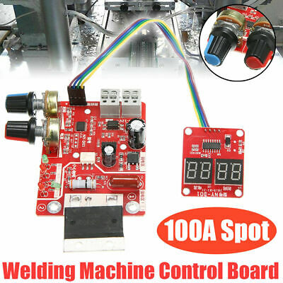 Red 100A Spot Welder Time Current Controller Control Panel Circuit Board Module • 15.17£