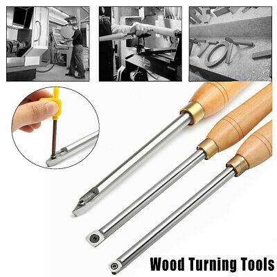 Carbide Tipped Wood Turning Chisel Diamond Round Square Insert Lathe Tool Set • 27.41£