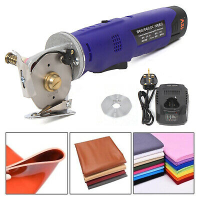Electric Round Cloth Cutter Fabric Leather Cutting Machine Rechargeable Scissors • 76.16£