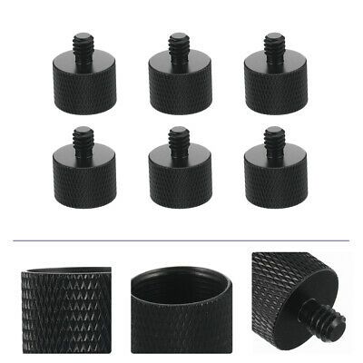 6pcs Mini Microphone Stand Clip Holder Mic Thread Adapter To Convert 5/ 8to1/ 4 • 5.67£